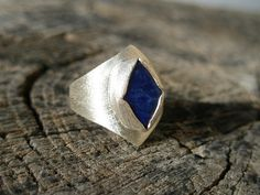 Lapis lazuli sterling silver ring urban by SILVERSTONEbyRenata