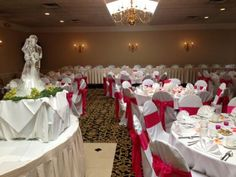 Red & White Wedding Table Ideas from Gazebo Banquet Center - Event And Wedding venues