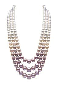 Necklace Jewelry YOKO London three-strand pearl necklace with South Sea, Akoya and natural colour pink freshwater pearls. - YOKO London Blossom rose gold South Sea, Akoya and freshwater three-tiered pearl necklace. Freshwater Pearl Necklaces, Pearl Jewelry, Gold Jewelry, Beaded Jewelry, Fine Jewelry, Beaded Necklace, Jewellery Rings, Pink Pearl Necklace, Jewelry Center