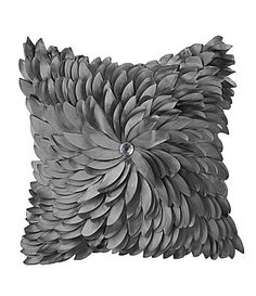 "Spencer Industries ""Exploding Mum"" Pewter Decorative Pillow 