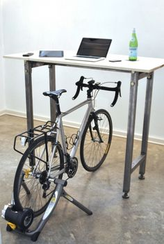 VISI / Articles / Kickstand furniture lets you cycle at your desk