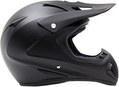 Adult Off Road Helmet DOT Dirt Bike Motocross ATV Motorcycle Offroad Flat Matte Black ( XXL )