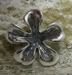 STYLISH STERLING SILVER PENDANT FLOWER SOLID 925 NEW