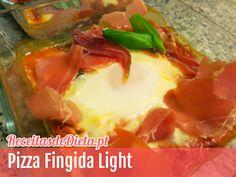 Receita de Pizza Fingida Light e Low Carb #receita #dieta #saude #fitness #lowcarb
