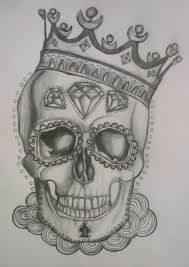 Image result for day of the dead skull black and white