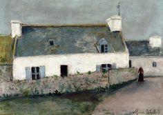 Maurice Utrillo: maison sur l'île d'Ouessant  ( Finistère )