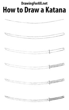 Learn how to draw a katana with our drawing tutorial -  http://www.drawingforall.net/how-to-draw-a-katana/
