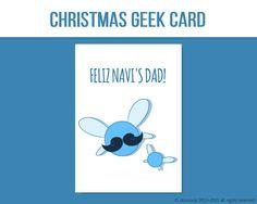 Feliz Navi's Dad Christmas Card for Gamers Feliz Navidad by DonCorgi, Christmas Gifts, Funny Greetings Cards at Etsy