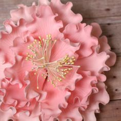 Pink Garden Peony Gum Paste Cake Topper