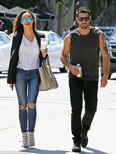 Love Cara's look, even the man. :) Cool kids! Jesse Metcalfe and Cara Santana were sartorially in synch when they headed out ...