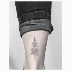 Super Pine Tree Tattoo Back Nature Ideas Feather Tattoos, Nature Tattoos, Rose Tattoos, Leg Tattoos, Flower Tattoos, Tree Tattoo Back, Pine Tree Tattoo, Tree Tattoo Meaning, Tattoos With Meaning