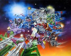 Box Battle 1987: This is the battle that depicted the Headmaster and Targetmaster Transformers where the original USA series would end with Transformers Rebirth.