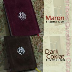 Al-Quran Rainbow 11,5X17 cm avail Maron, Dark Cokelat @ 160 K GRAB IT FAST :D