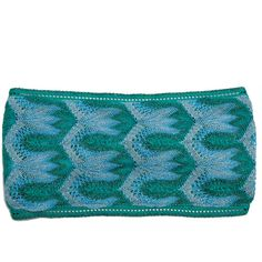 Missoni Mare Embroidered crochet-knit headband (735 HRK) ❤ liked on Polyvore featuring accessories, hair accessories, crochet headbands, knotted headband, crochet headwrap, knit headwrap and knit headband