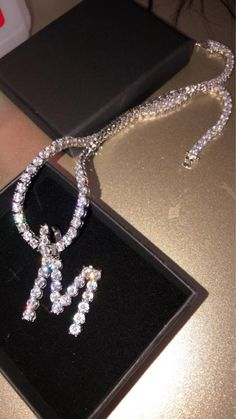 Initial chain (women's) for Sale in Indianapolis, IN – OfferUp – Maxima – Jewelry Jewelry Logo, Cute Jewelry, Jewelry Crafts, Beaded Jewelry, Jewelry Accessories, Jewelry Packaging, Luxury Jewelry, Girly Things, Jewelery