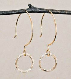 Single Ring Drop Earrings by Cameron Kruse Designs on Scoutmob