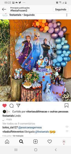 Frozen Themed Birthday Party, 4th Birthday, Birthday Party Themes, Frozen Party Decorations, Frozen 2, Boy Or Girl, Elsa, Backdrops, Hello Kitty