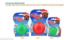 "Holiday Xmas Dog Ball Motion Sensor Play Toy that interacts ""Talks"" to your Dog"