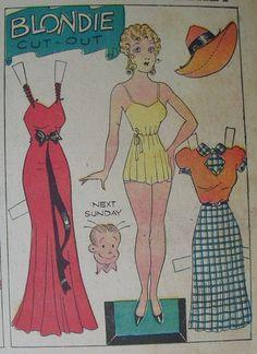 Blondie Sunday Page 8/14/1938