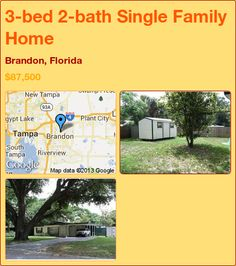 3-bed 2-bath Single Family Home in Brandon, Florida ►$87,500 #PropertyForSale #RealEstate #Florida http://florida-magic.com/properties/6492-single-family-home-for-sale-in-brandon-florida-with-3-bedroom-2-bathroom