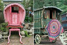 Beautiful romany caravans