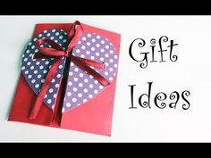 DIY-Envelope Paper heart card Gift || Make for Boyfriend/Girlfriend - YouTube