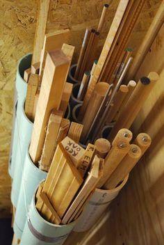 PVC pipe wood store