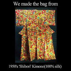 Luxury Clutch Purse handmade from high grade 'Shibori' kimono. Tokyo Guide, Kimono Japan, Shibori, Clutch Purse, 1950s, Zen, Silk, Purses, Luxury