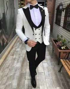 Online Shop Slim Groom Tuxedo Men Suits for Wedding White Costume Homme Mariage Black Groomsmen Blazer Terno Masculino Traje Hombre Black Suit Wedding, Wedding Suits, Blue Wedding, White Tuxedo Wedding, Wedding Groom, Wedding Ceremony, Groom Tuxedo, Tuxedo For Men, Indian Men Fashion