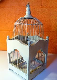 Antique Bird Cage by CafeRoche on Etsy, $29.00