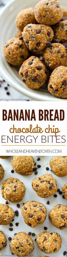 Easy to whip up and even more fun to eat whenever you need a boost of energy, these healthy banana bread-flavored energy bites will keep you going all day!