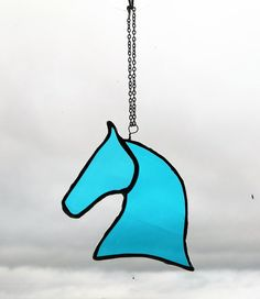Stained glass Horse stained glass hanging mother/ birthday