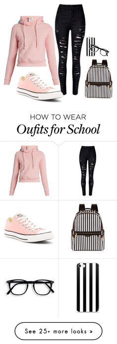 """""""Day at School"""" by summerpate on Polyvore featuring Vetements, Converse and Henri Bendel"""
