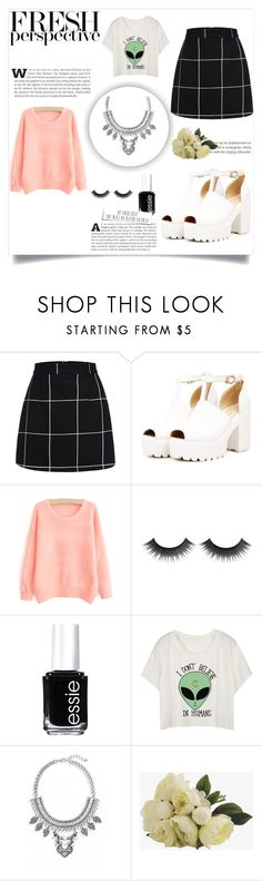 """""""Skirt on winter"""" by mirimv15 ❤ liked on Polyvore featuring Essie and Leith"""