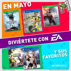 En mayo diviértete todo el tiempo con estas nuevas rebajas que nos trae EA - Electronic Arts para sus mejores juegos --> microplay.cl/ea-ofertas #fashion #style #stylish #love #me #cute #photooftheday #nails #hair #beauty #beautiful #design #model #dress #shoes #heels #styles #outfit #purse #jewelry #shopping #glam #cheerfriends #bestfriends #cheer #friends #indianapolis #cheerleader #allstarcheer #cheercomp  #sale #shop #onlineshopping #dance #cheers #cheerislife #beautyproducts #hairgoals…