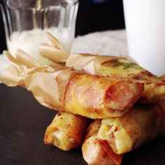 Dip these Spring Roll Pizza Sticks into marinara sauce and you'll be in cheesy pizza heaven.