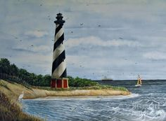 Hatteras Lighthouse Painting