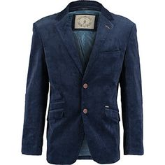 Navy Corduroy Tailored Fit Blazer