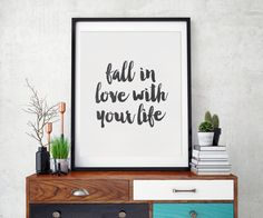 Digital Download | Printable Quote | Love Your Life | Wall Art Print | Inspirational Art | Wall Art Quote | Wall Art Printable | Quote Print by SmudgeCreativeDesign on Etsy