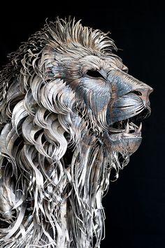 Aslan the Lion Metal Sculpture