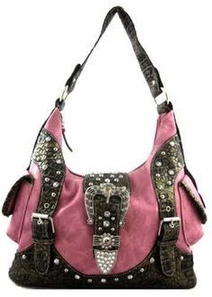 Western Rhinestone purse in Pink  Matching wallet available