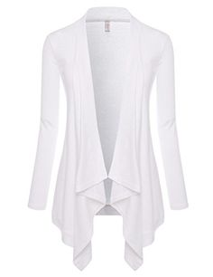 NEARKIN (NKNKWCD692) Womens Lightweight Long Sleeve Open Front Drape Tunic Cardigans WHITE US L(Tag size XL). Open Front, Long sleeve. Appropriate for Casual Attire, Dating, Dressy and Business Casual, Daily Look, City Casual, Semi Formal. Nearkin prime concern is customers satisfaction. We strive to provide the best customer service we can. Please note that body builds vary by person, therefore, detailed size information should be reviewed below on the product description. When You Wash...