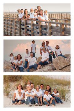Multi-generational family beach portraits Orange Beach, AL Family Portrait Session. Alabama Point family pictures. Orange Beach jetties www.findingbeautyphotography.com