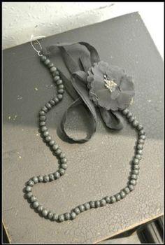 Noa Noa Chianti Necklace 1-2778-1 in Caviar (Dark Grey) £25