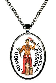 Shango Orisha for Blessings of Passion Huge Pendant