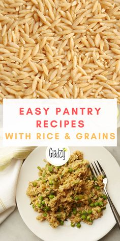 It's no wonder rice, oats and grains were the first go to at the grocery stores! Giada Recipes, Fun Recipes, Rice Recipes, Easy Dinner Recipes, Healthy Recipes, Awesome Food, Good Food, Yummy Food, Easy Weeknight Dinners