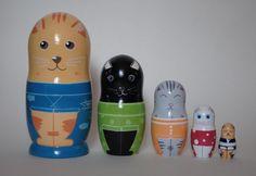 Nesting dolls. Matryoshka dolls. Russian dolls. by tooys on Etsy https://www.etsy.com/listing/251967446/nesting-dolls-matryoshka-dolls-russian