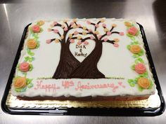 Anniversary Cake - Erin Miller Cakes - https://www.facebook.com/erinmillercakes