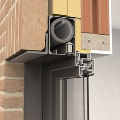 Fixscreen - External Roller Blinds for Wind Protection Cladding Design, Facade Design, House Design, Door Gate Design, Window Design, Building Systems, Building Design, Detail Architecture, Atrium Design
