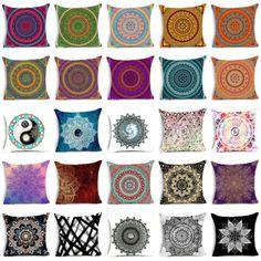 Bohemian-mandala-polyester-pillow-case-cover-sofa-waist-cushion-cover-Home-Decor
